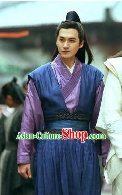 Ancient Chinese Young Men Male Hanfu Dresses Garment Complete Set