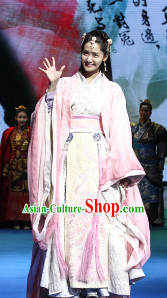 Ancient Chinese Young Princess Hanfu Dresses Complete Set
