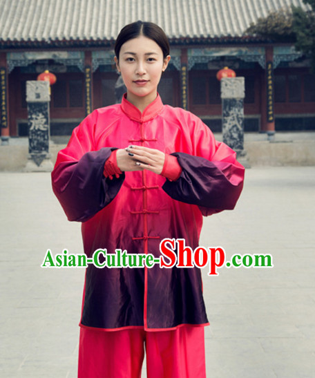 Chinese Traditional Color Changing Mandarin Martial Arts Tai Chi Kung Fu Gong Fu Competition Championship Suits Uniforms for Women Children