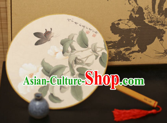 Chinese Traditional Handmade Gong Shan Palace Fan Round Fan Mandarin Fan Dance Fan
