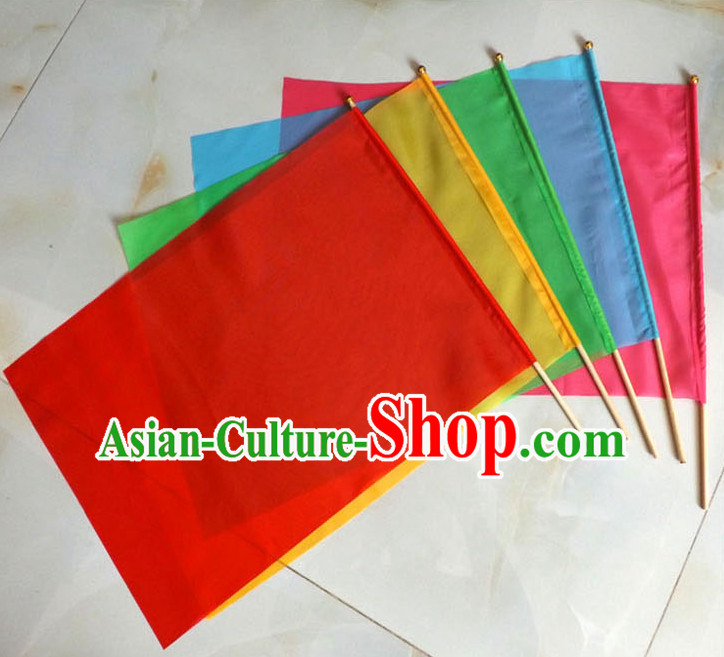 Holding Dance Flag Dancing Banner Welcome Ceremony Acrobatics Flag for Children Adults