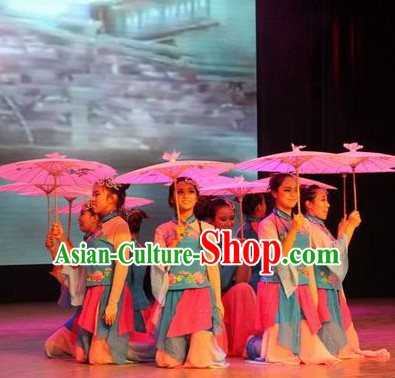 Chinese Classical Dancing Outfits Dancewear Costumes Dancer Costumes Girls Dance Costumes Chinese Dance Clothes Traditional Chinese Clothes and Hair Decorations Complete Set