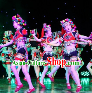 Chinese Traditional Ethnic Dancing Outfits Dancewear Costumes Dancer Costumes Dance Costumes Chinese Dance Clothes Traditional Chinese Clothes Complete Set for Women