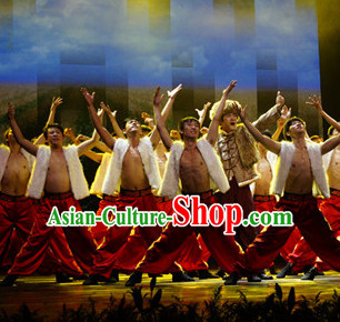 Chinese Stage Shangxi Dancing Dancewear Costumes Dancer Costumes Dance Costumes Chinese Dance Clothes Traditional Chinese Clothes Complete Set for Men Kids