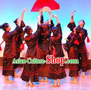 Chinese Stage Classical Dancing Dancewear Costumes Dancer Costumes Dance Costumes Chinese Dance Clothes Traditional Chinese Clothes Complete Set for Women Kids