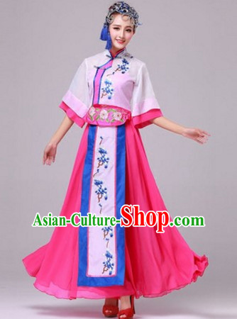 Chinese Stage Minority Ethnic Dancewear Costumes Dancer Costumes Dance Costumes Chinese Dance Clothes Traditional Chinese Clothes Complete Set for Women Children