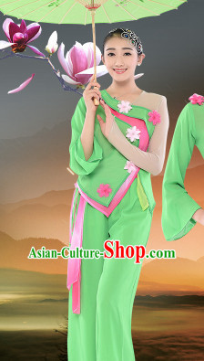Chinese Traditional Stage Dancewear Costumes Dancer Costumes Dance Costumes Clothes and Headdress Complete Set for Women Children