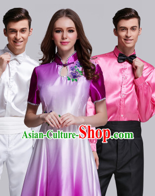 Chinese Traditional Stage Dancewear Costumes Dancer Costumes Dance Costumes Clothes Complete Set for Women Children