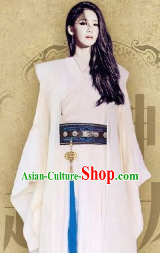 Chinese Traditional Han Clothes Complete Set for Girls Ladies