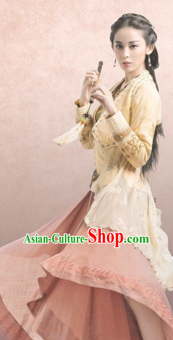 Ancient Asian Chinese Beauty Costumes Complete Set for Women