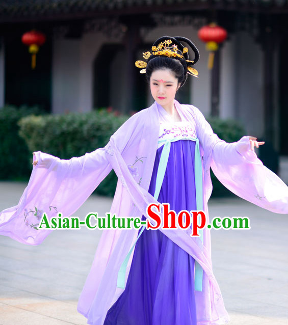Top Chinese Tang Dynasty Princess Hanfu Clothing Chinese Hanfu Costume Hanfu Dress Ancient Chinese Costumes and Hat Complete Set for Women Girls Children