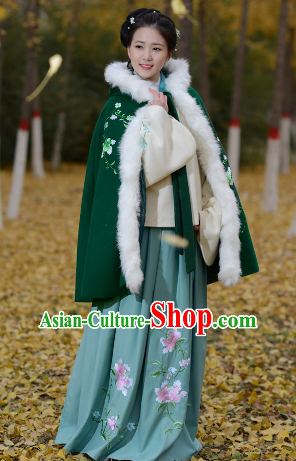 Top Chinese Cape Mantle Hanfu Clothing Chinese Hanfu Costume Hanfu Dress Ancient Chinese Costumes Complete Set for Women Girls Children