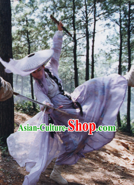 Chinese Ancient Female Knight Costumes Complete Set for Women