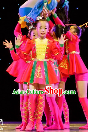 Chinese Folk Dance Costumes Complete Set for Kids