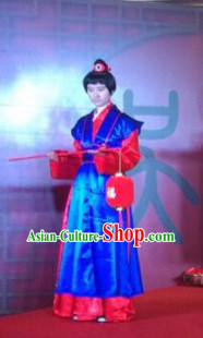 Chinese Ancient Style Wedding Ceremony Officiate Costumes Complete Set for Men or Women
