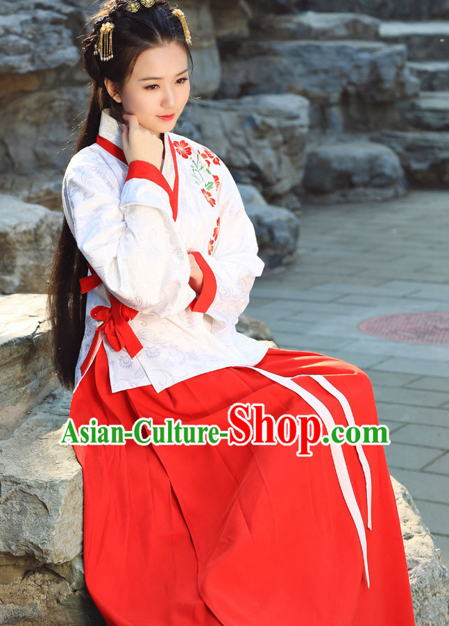 Ancient Chinese Ming Dynasty Lady Hanfu Garment Complete Set for Women