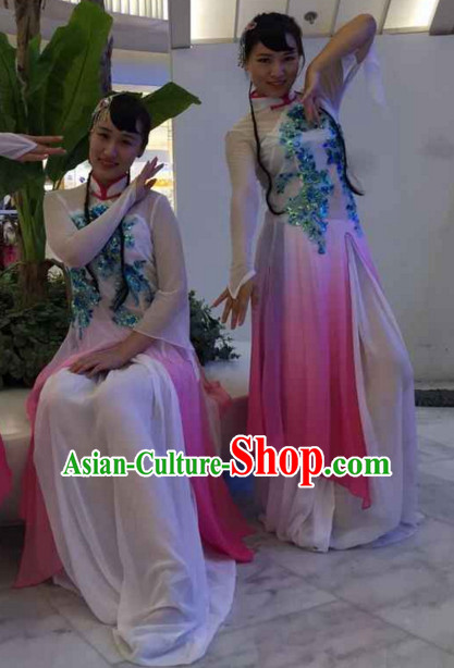 Chinese Stage Performance Classical Dance Costume and Headdress Complete Set for Women
