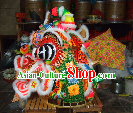Top Chinese Traditional Handmade Kylin Dancing Equipments Complete Set