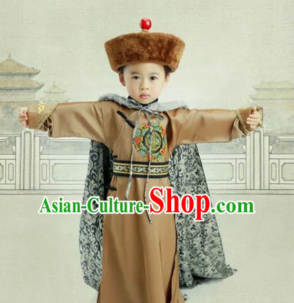 Chinese Ancient Style Prince Hanfu Clothes and Hat Complete Set