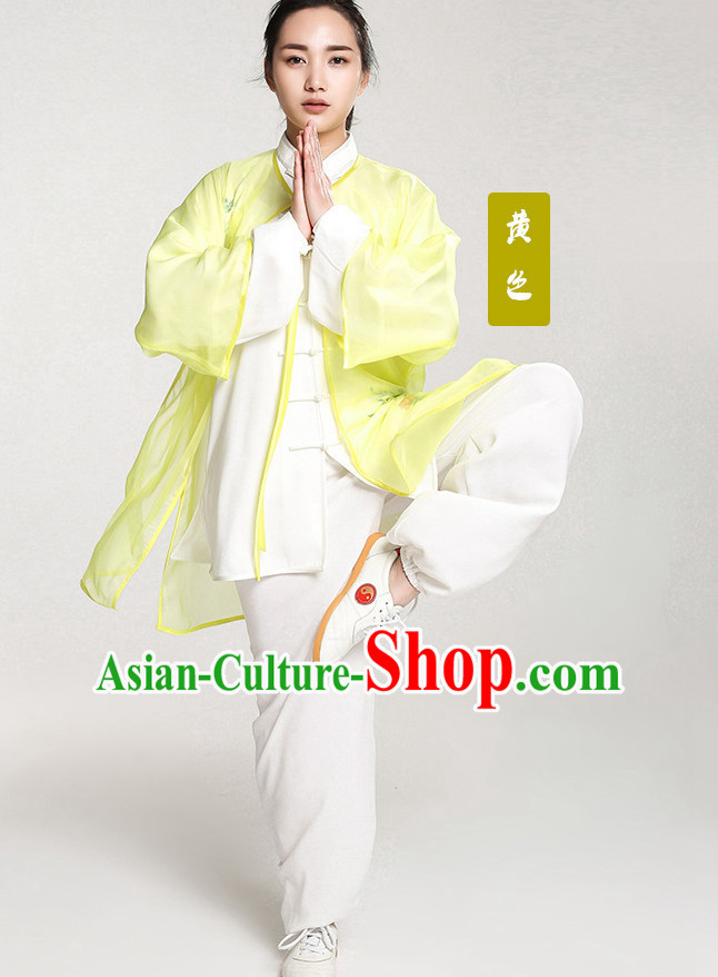 Top Chinese Traditional Taiji Tai Chi Clothes Uniform Complete Set for Women or Men