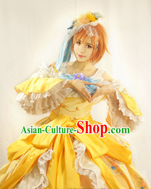 Custom Made Lovelive Cosplay Costume and Headwear Complete Set for Women or Girls