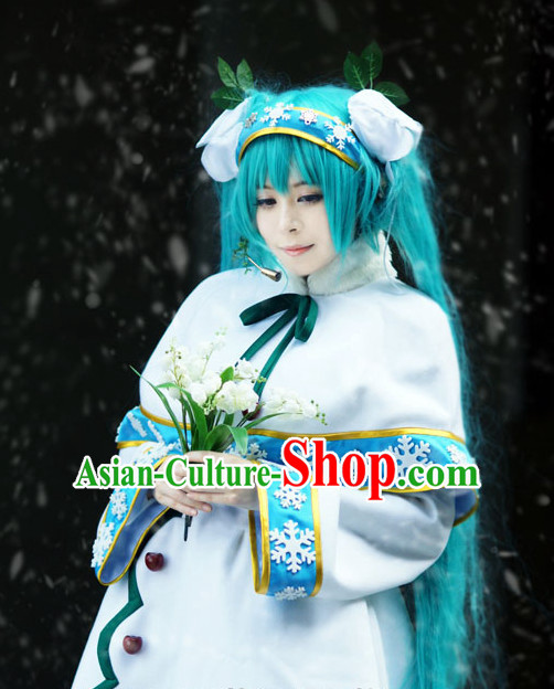 Custom Made Cosplay Costumes and Headwear Complete Set for Women or Girls