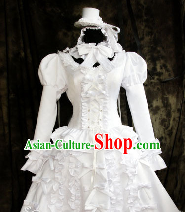 Custom Made LOLITA Cosplay Costumes and Headwear Complete Set for Women or Girls