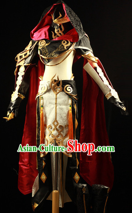 Made to Order Chinese Ancient Style Superhero Cosplay Costumes and Headdress Complete Set for Women or Men