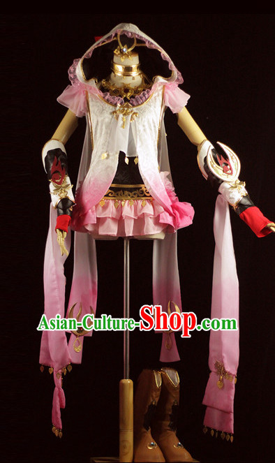 Made to Order Princess Cosplay Costumes and Headdress Complete Set for Women
