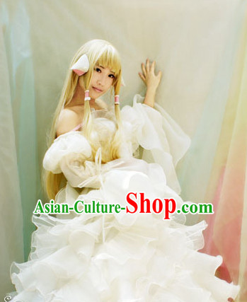 Custom Made CLAMPchobits Cosplay Costumes and Headdress Complete Set for Women or Girls