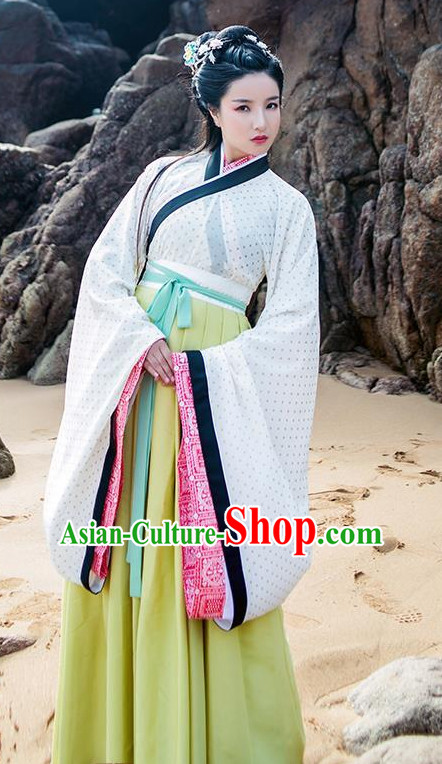 Traditional Chinese Han Dynasty Lady Dress Chinese Hanfu Clothing Cloth China Attire Oriental Dresses Complete Set for Women