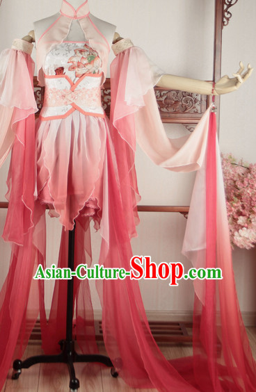 Traditional Chinese Imperial Princess Cosplay Costumes Dress Chinese Hanfu Clothing Cloth China Attire Oriental Dresses Complete Set for Women