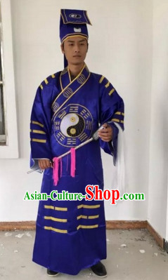 Chinese Beijing Opera Costumes Peking Opera Taoist Costume Complete Set for Men
