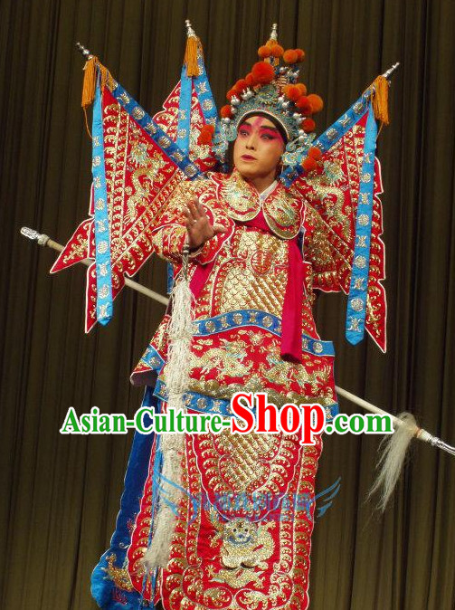 Chinese Beijing Opera Costumes Peking Opera Superhero Costume Complete Set for Men