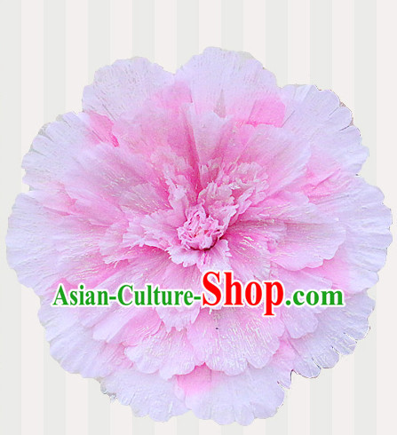Pink Traditional Dance Props Flower Umbrella Dancing Prop Decorations for Men Women Adults