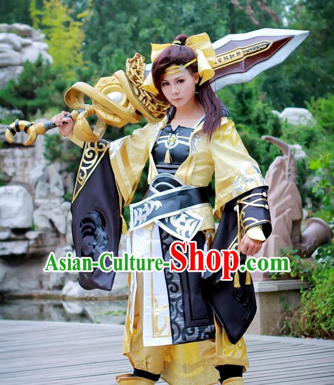 Chinese Costume Superheroine Armor Cosplay Costumes China Traditional Armors Complete Set for Women Kids Adults