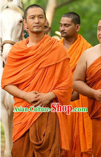 Ancient Chinese Famous Monk Xuan Zang Costumes for Men