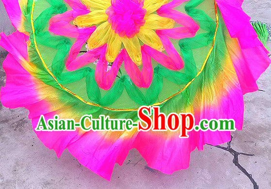 Traditional Dance Props Flower Umbrella Yangge Dancing Prop Folk Decorations for Men Women Adults