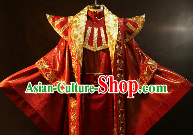 Emperor Robe Gown BJD Dolls Puppet Play Marionette Show Costumes and Accessories Complete Set for Puppets or People