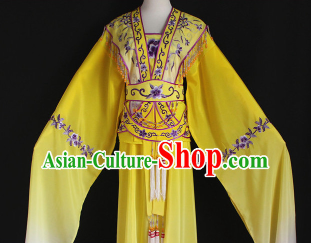 Ancient Asian Stage Performance Long Sleeve Beauty Dance Costumes
