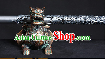 Supreme Silver Traditional Monkey King Sun Wukong Golden Cudgel