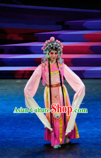 Chinese Classical Opera Dance Costume Folk Dancing Costumes Traditional Chinese Dance Costumes Asian Dancewear Complete Set for Women Girls