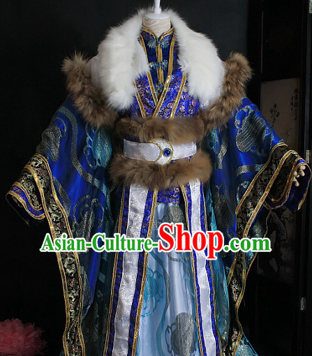 Ancient Chinese Style Emperor King Cosplay Garment Costumes Clothing for Men Boys