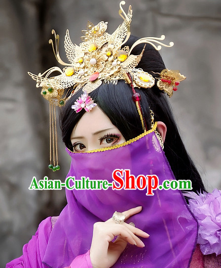 Chinese Ancient Style Mysterious Face Veil