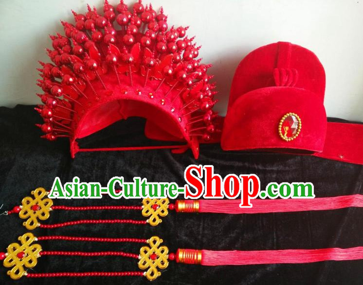 Top Traditional Chinese Opera Phoenix Coronet Hat and Bridegroom Hat