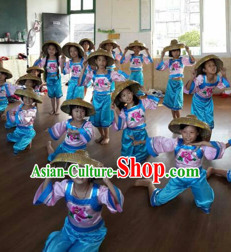Traditional Chinese Dance Bamboo Hat for Kids