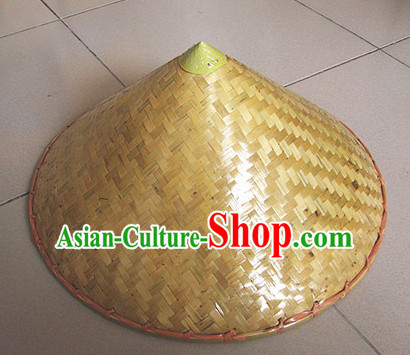 Traditional Chinese Dance Bamboo Hat for Adults and Children