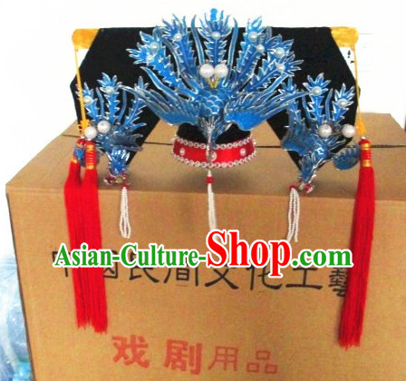 Chinese Opera Peking Opera Famous Operas Beijing Opera Jingju Empress Phoenix Hat Headwear for Women Girls