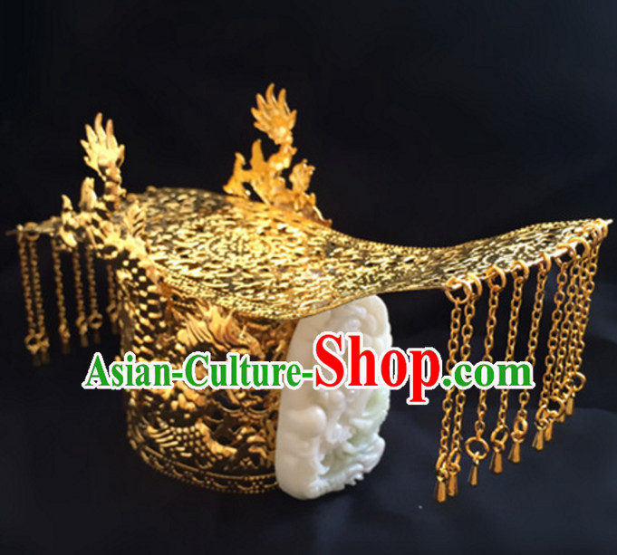 Chinese Ancient Style Prince Emperor Headpieces Hair Jewelry Coronet Crown for Men