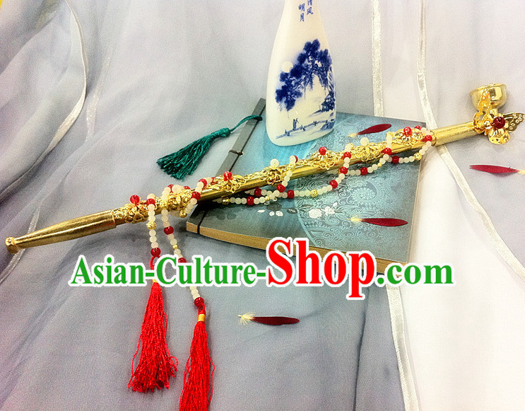 Ancient Chinese Style Handmade Long Tobacco Pipe Stage Props